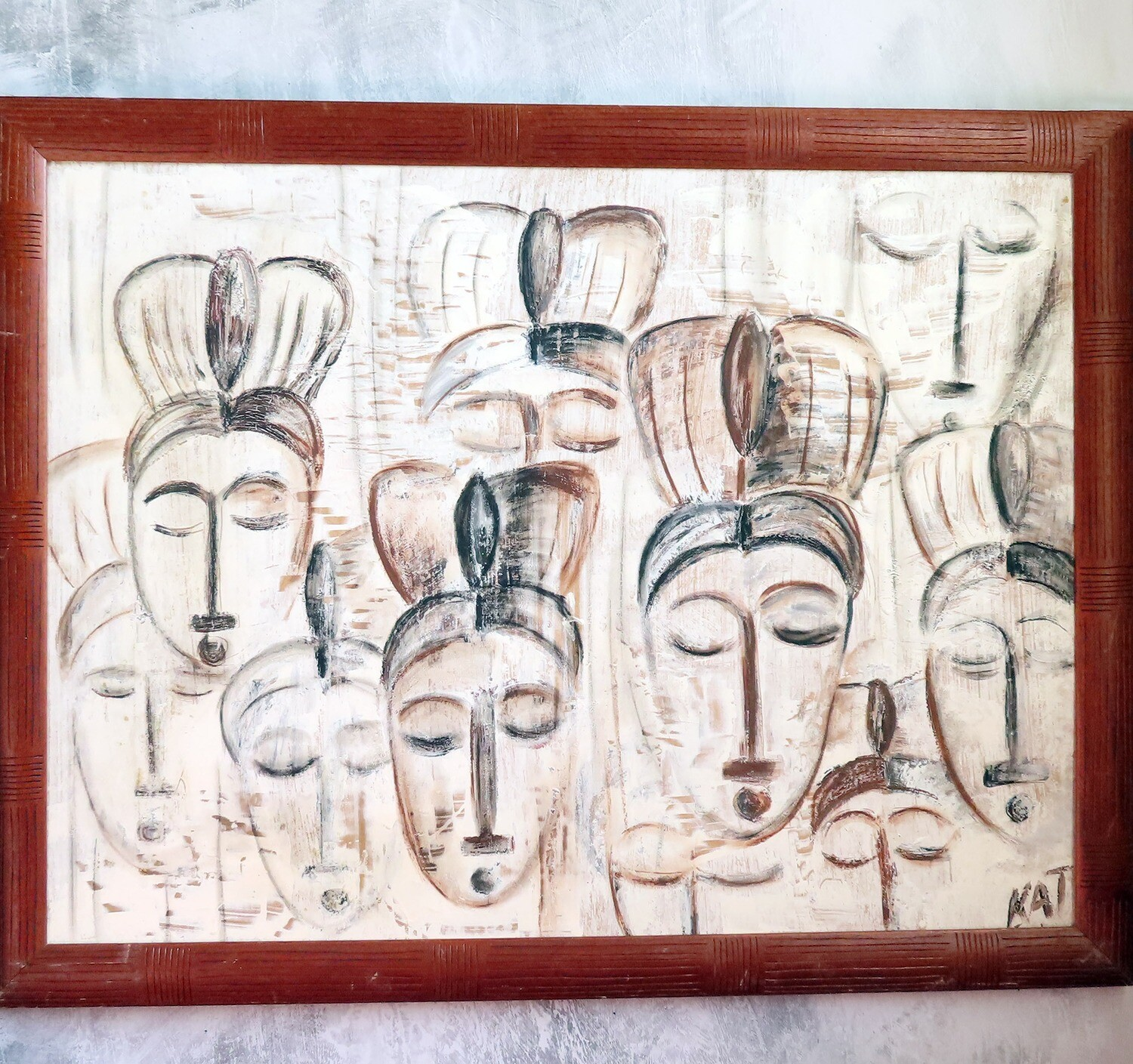 French Framed Painting by Artist Kat