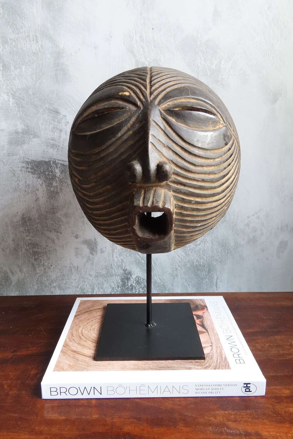 Vintage Luba Mask from Congo