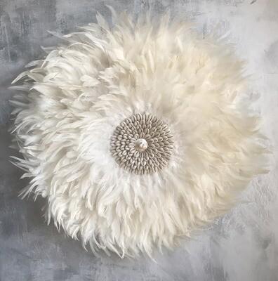Cowrie Shell Wall Decor - White