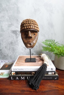 Cowrie Shell Timor Sculpture - Small (Missing Shells)