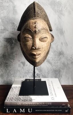 Neutral-Colored Vintage Punu Mask
