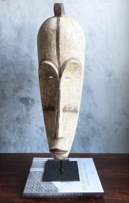 Large Fang Tribe Mask from Gabon - White