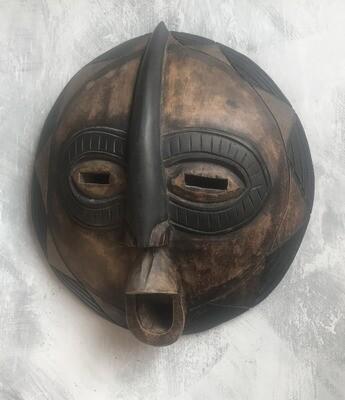 Vintage Round Ghana Mask 1