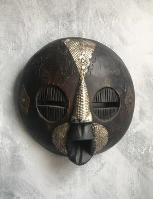 Vintage Round Ghana Mask 2