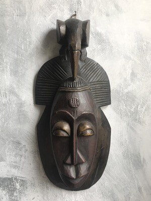 Mask from Ivory Coast with Elephant Figure