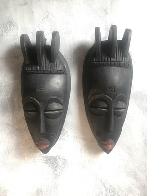 Pair of Masks from Ghana