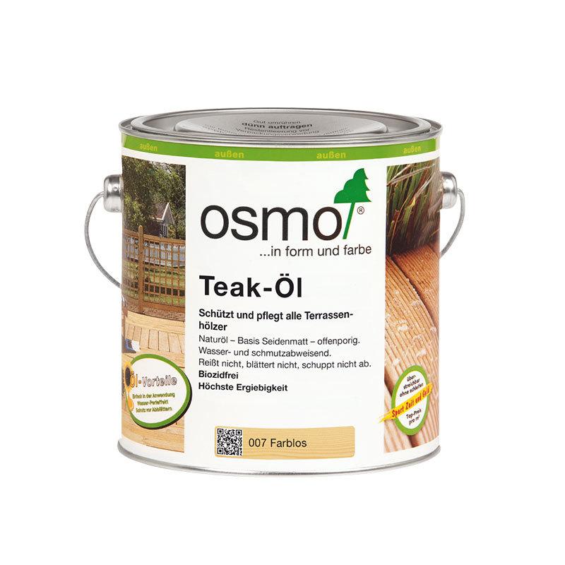 OSMO Teak-Öl 007 Farblos, 2,5 L 207260057
