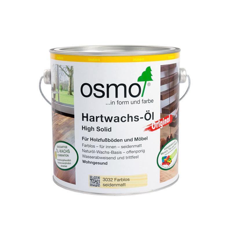 OSMO Hartwachs-Öl 3032 Farblos Seidenmatt, 2,5 L 207260121