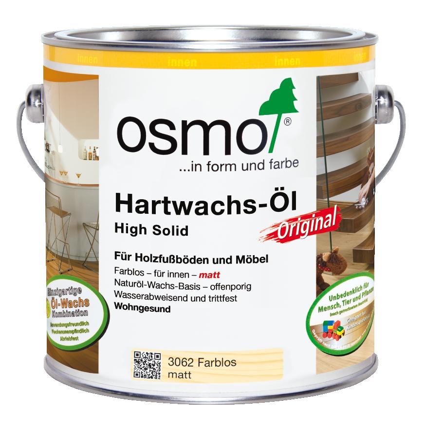 OSMO Hartwachs-Öl 3062 Farblos Matt, 2,5 L 207260123