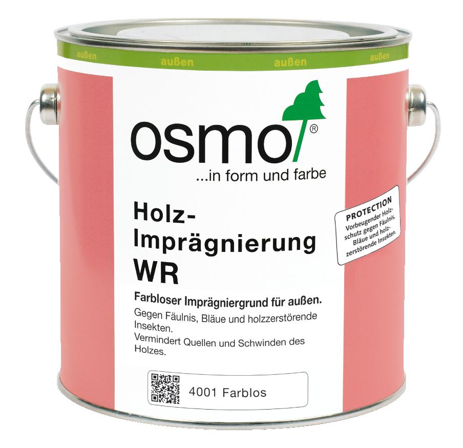 OSMO Holz-Imprägnierung WR 4001 Farblos, 2,5 L 207260087