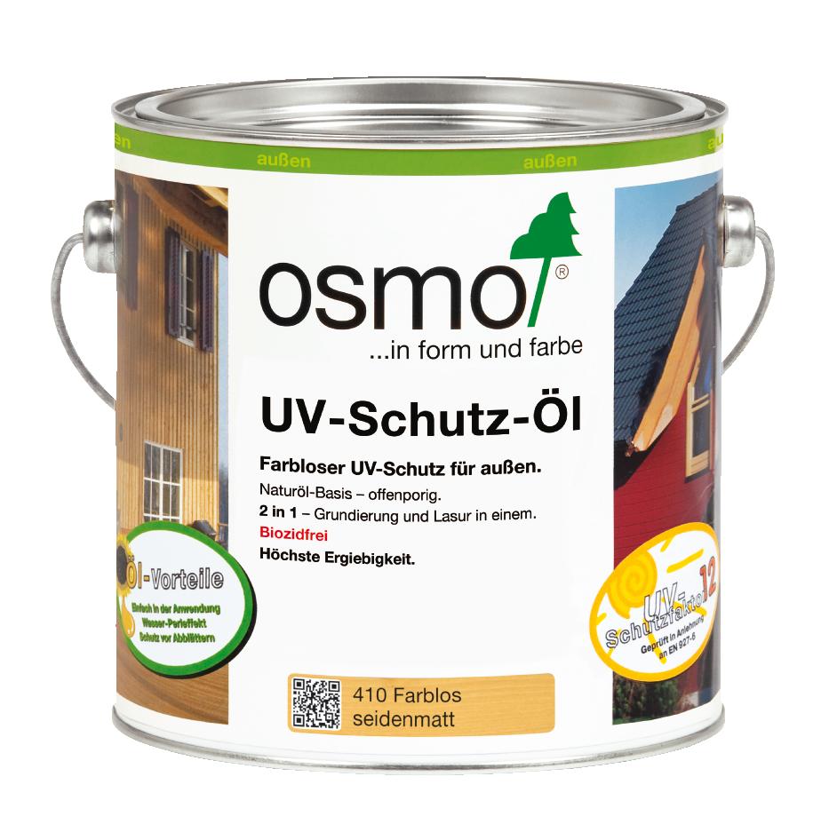 OSMO UV-Schutz-Öl 410 Farblos Seidenmatt ohne Filmschutz, 2,5 L 207260071