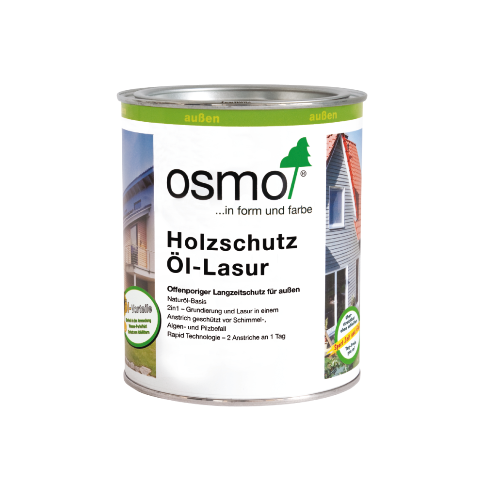OSMO Holzschutz Öl-Lasur 712 Ebenholz, 750 ml 207260100