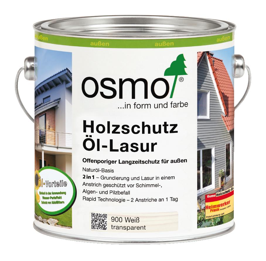 OSMO Holzschutz Öl-Lasur 900 Weiß, 750 ml 207260110