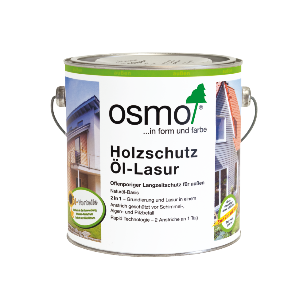 OSMO Holzschutz Öl-Lasur 906 Perlgrau, 2,5 L 207260117