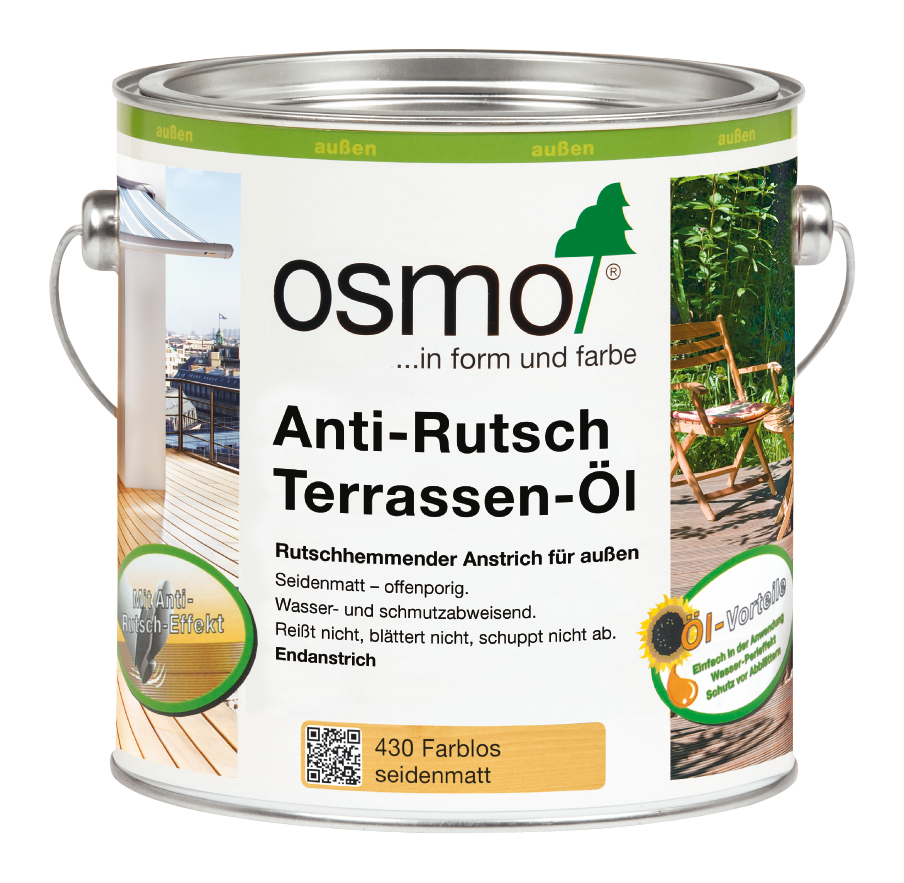 OSMO Terrassen-Öl 430 Anti-Rutsch Farblos, 2,5 L 207260069
