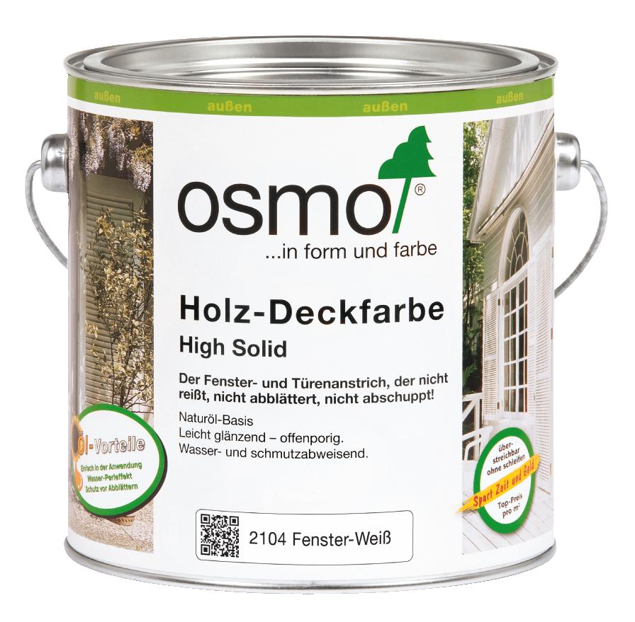 OSMO Holz-Deckfarbe 2104 Weiß, 2,5 L 207260447