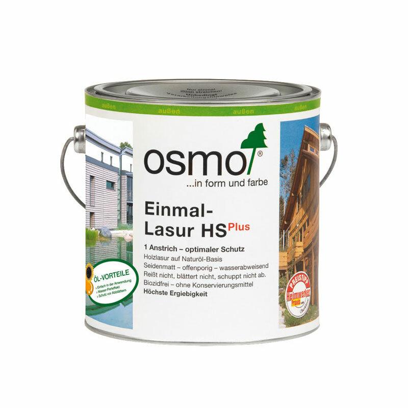 OSMO Einmal-Lasur HS Plus 9234 Skandinavisch Rot, 2,5 L 207260538