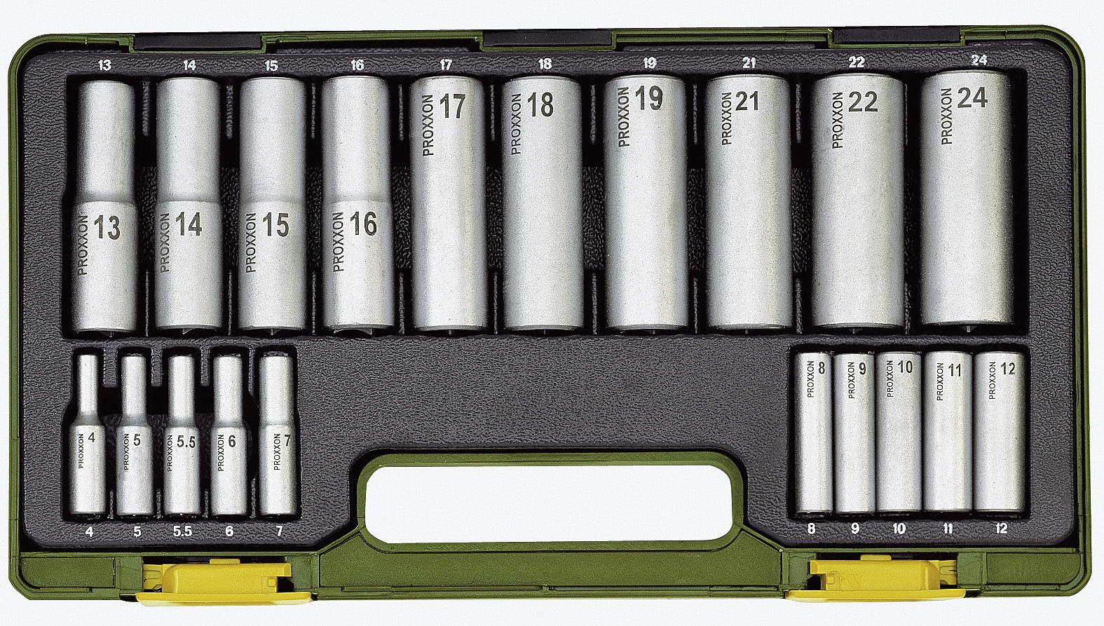 Tiefbett-Steckschlüsselsatz, 1/4'' + 1/2'', 20-tlg. 213520043