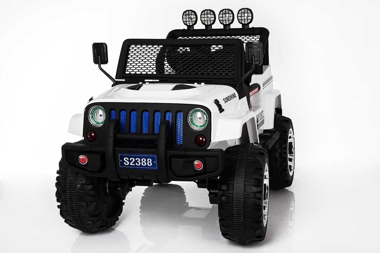 AUTO MACCHINA ELETTRICA PER BAMBINI Modello Jeep Sport 12v 4x4 + SEDILE IN PELLE 2 posti