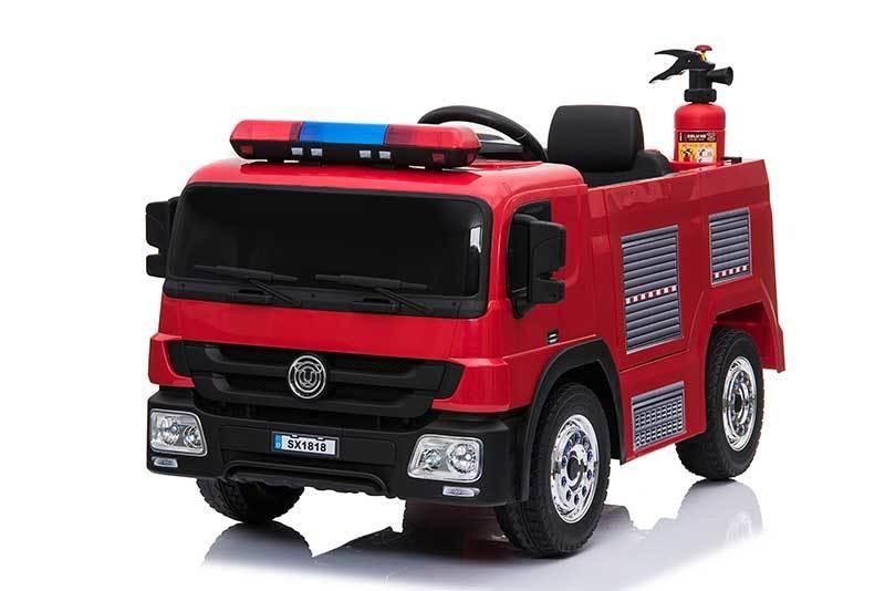 AUTO MACCHINA ELETTRICA PER BAMBINI Camion dei Pompieri 12v