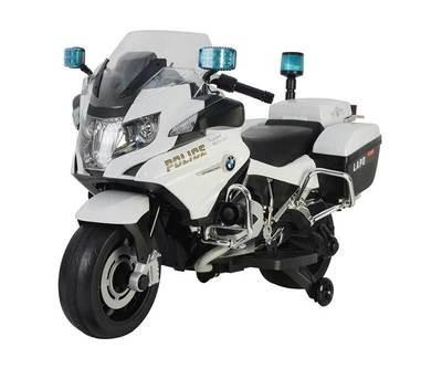 MOTO MOTOCICLETTA PER BAMBINI Police (POLIZIA) BMW R1200 12v (Deluxe) con RUOTE IN GOMMA  PRODOTTO UFFICIALE