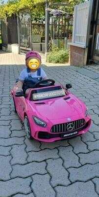 AUTO MACCHINA ELETTRICA Mercedes GTR 12v CON VERNICE METALLIZZATA PRODOTTO UFFICIALE