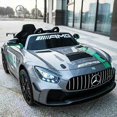 AUTO MACCHINA ELETTRICA Mercedes Benz Gt4 CON TV TOUCH SCREEN 12v PRODOTTO UFFICIALE