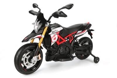 MOTO MOTOCICLETTA ELETTRICA PER BAMBINI Aprilia Dorsoduro 12v con Bluetooth PRODOTTO UFFICIALE