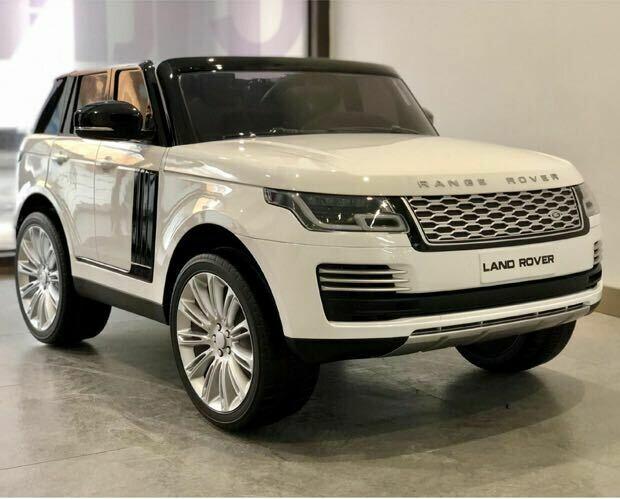 AUTO MACCHINA ELETTRICA PER BAMBINI Range Rover 12v 2 POSTI CON TV TOUCH SCREEN  PRODOTTO UFFICIALE