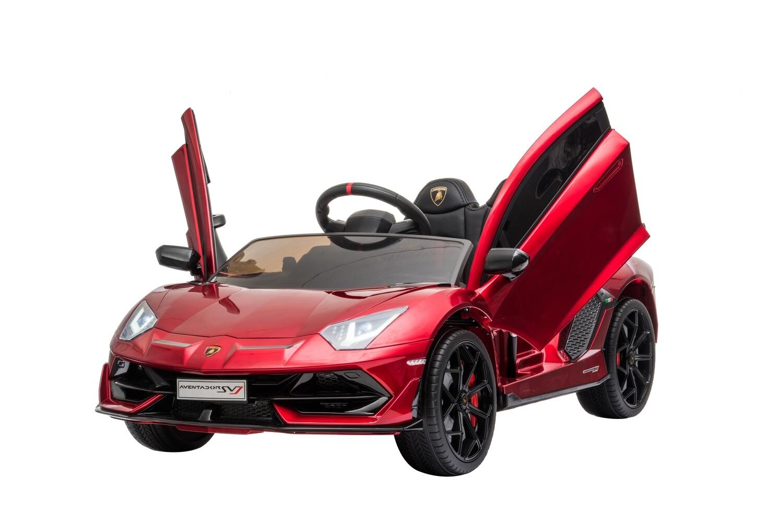 AUTO MACCHINA ELETTRICA PER BAMBINI 12v Lamborghini Aventador SVJ CON VERNICE METALLIZZATA PRODOTTO UFFICIALE (NUOVA VERSIONE)