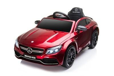 AUTO MACCHINA ELETTRICA PER BAMBINI Mercedes C63 coupe' 12v CON VERNICE METALLIZZATA PRODOTTO UFFICIALE