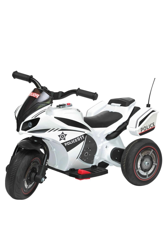 MOTO MOTOCICLETTA ELETTRICA PER BAMBINI MODELLO POLIZIA 6v