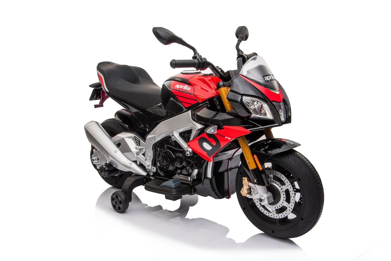 MOTO MOTOCICLETTA ELETTRICA PER BAMBINI Aprilia Tuono 12v PRODOTTO UFFICIALE