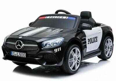 AUTO MACCHINA ELETTRICA PER BAMBINI Mercedes SL 500 Police POLIZIA (Deluxe) PRODOTTO UFFICIALE