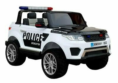 AUTO ELETTRICA PER BAMBINI AUTO Super Police mod. range rover (POLIZIA) 12v (Deluxe) 4x4 2 POSTI CON SIRENA