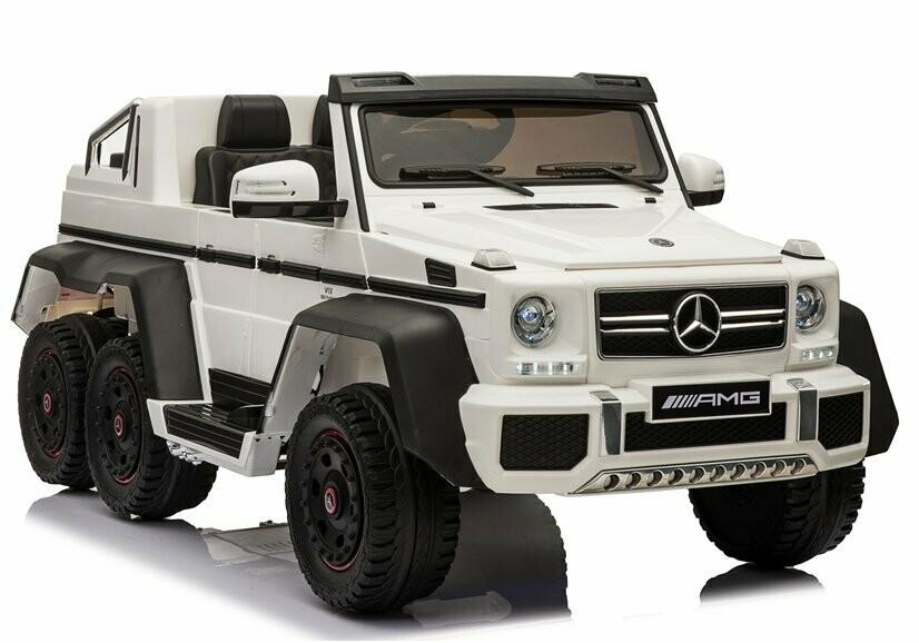 AUTO MACCHINA ELETTRICA PER BAMBINI Mercedes 6X6 (Deluxe) CON TV TOUCH SCREEN 2 POSTI PRODOTTO UFFICIALE