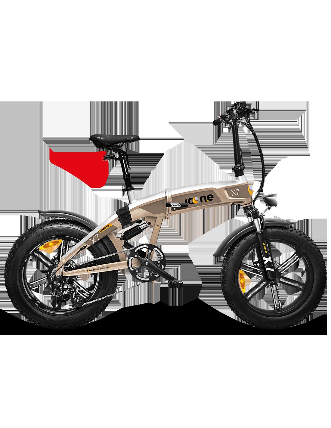 BICI BICICLETTA ELETTRICA E-Bike X7 ICROSS STARDUST SILVER 250w 48v