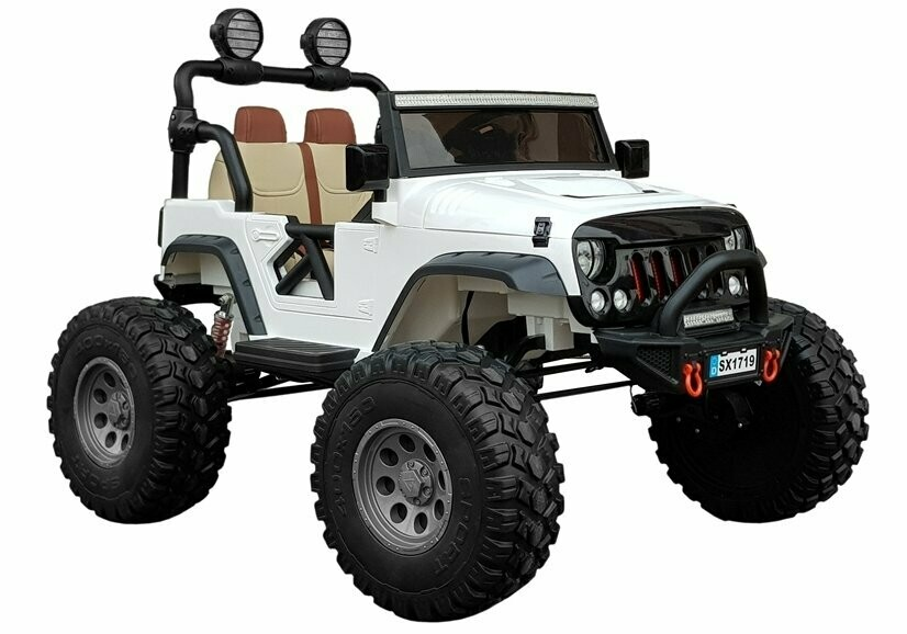 AUTO MACCHINA ELETTRICA PER BAMBINI Monster Jeep 12v  (Deluxe) 4X4 2 POSTI
