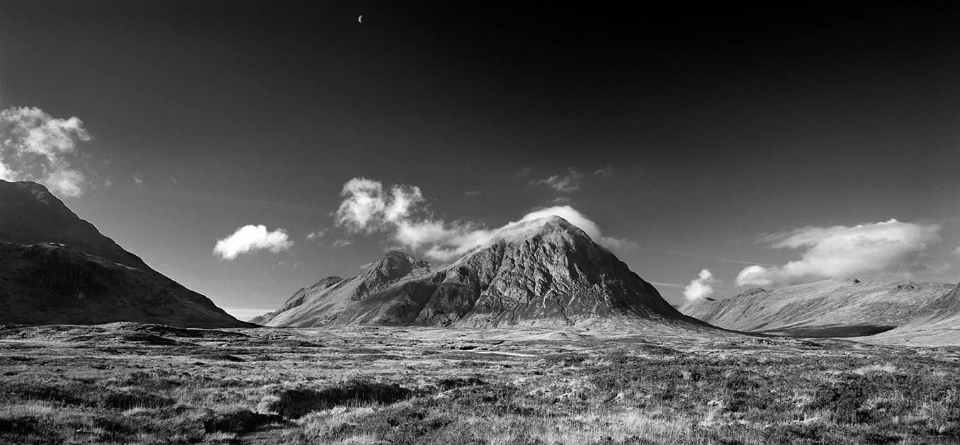 Buachaille Etive Mor and Moon - Scotland