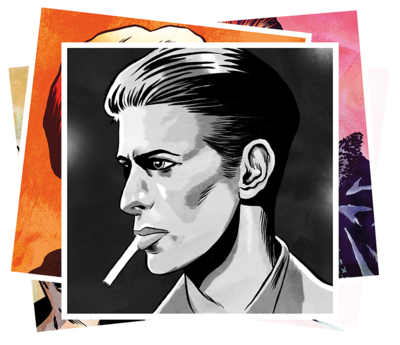 BOWIE MINI-POSTER CARDS - SET 1