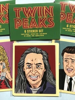 TWIN PEAKS Stickers (Set B) Set of 6