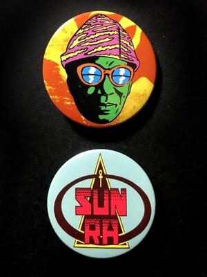SUN RA - Set of 2 Pin Badges