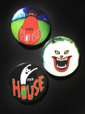 HAUSU / HOUSE - Set of 3 Pin Badges