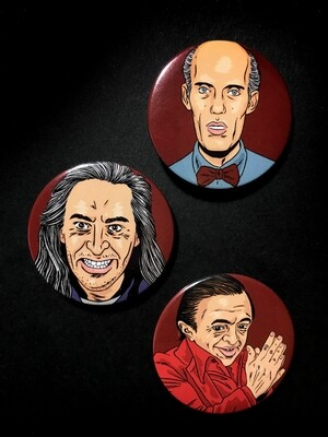 TWIN PEAKS 'Red Room Boys' - Set of 3 Pin Badges