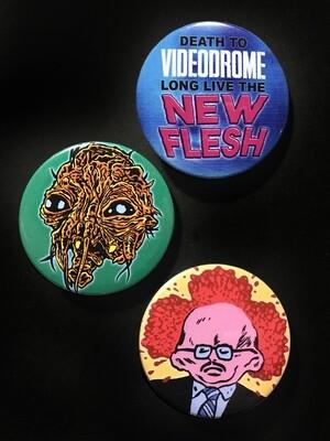 DAVID CRONENBERG - Set of 3 Pin Badges