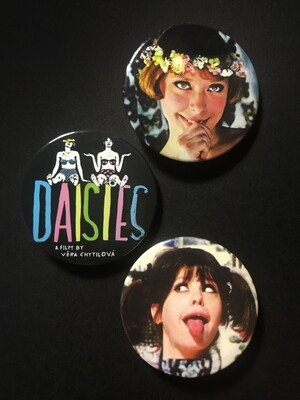 DAISIES / SEDMIKRÁSKY - Set of 3 Pin Badges
