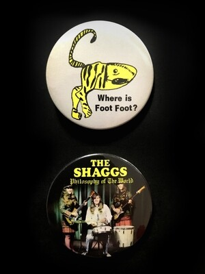 THE SHAGGS - Set of 2 Pin Badges