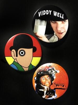 CLOCKWORK ORANGE - Set of 3 Pin Badges