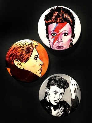 DAVID BOWIE - Set of 3 Pin Badges