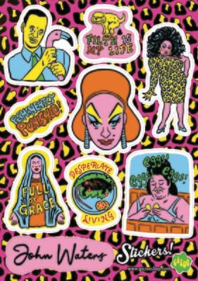 JOHN WATERS / DIVINE A5 Vinyl Sticker Sheet
